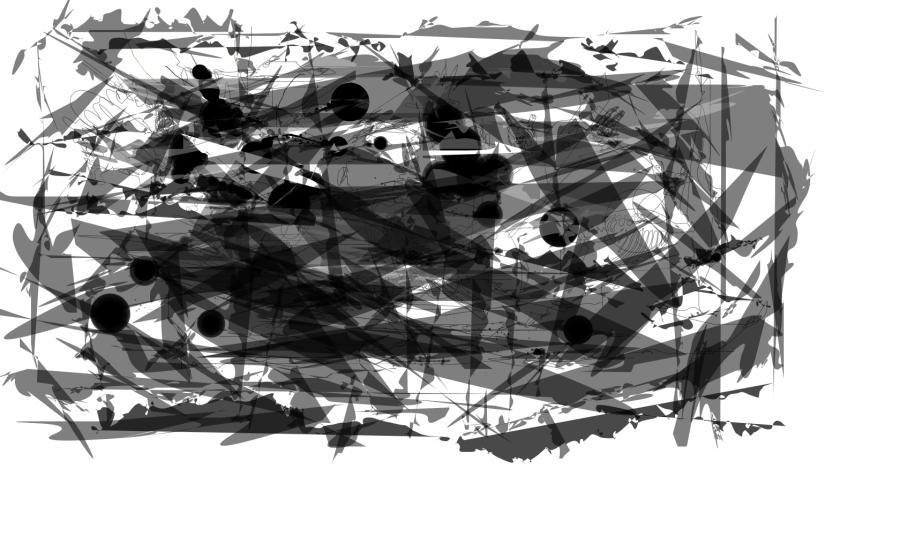 Escritura automatica uno. Ilustracion por Rhafhaell.