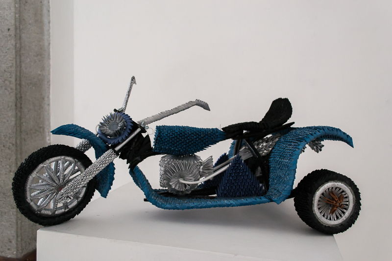 Motocicleta Pieza de Origami 3d Cleofas de la Peña
