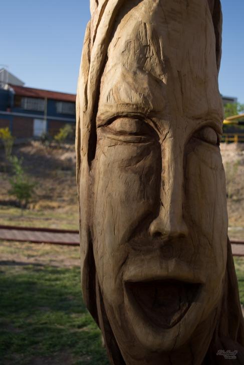 Rostro sobre madera Los Tronquitos Chihuahua