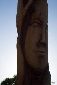 Esculturas de madera en el parque Los tronquitos Chihuahua